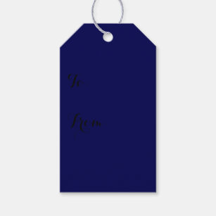 Diy do it yourself gift tags zazzle navy blue solid color customize it gift tags solutioingenieria Image collections