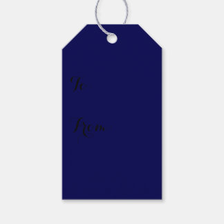 Navy Blue Solid Color Customize It Gift Tags