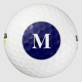 Navy Blue Solid Color Customize It Golf Balls
