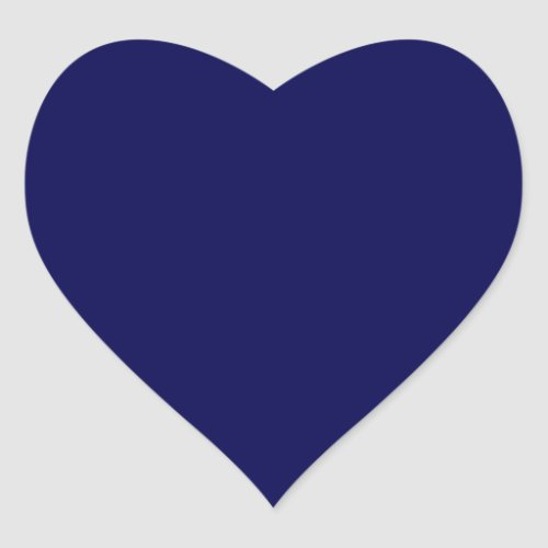 Navy Blue Solid Color Customize It Heart Sticker