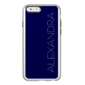 Navy Blue Solid Color Customize It Incipio Feather Shine iPhone 6 Case