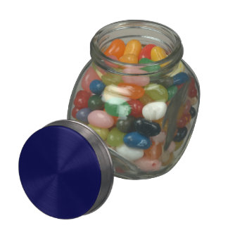 Navy Blue Solid Color Glass Candy Jars