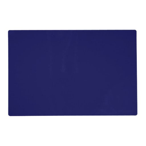Ptm Images 12 In X 12 In The Color Purple Laminated: Navy Blue Solid Color Placemat