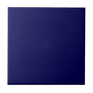 Navy Blue Solid Color Tile