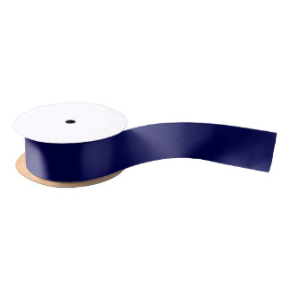 Navy Blue Solid Color Satin Ribbon