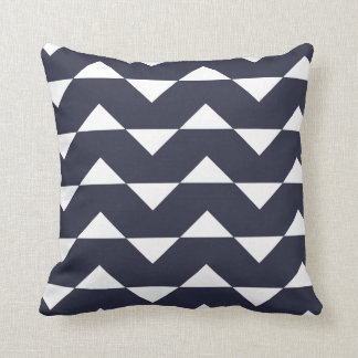 Navy Blue Sparre Pattern Throw Pillow