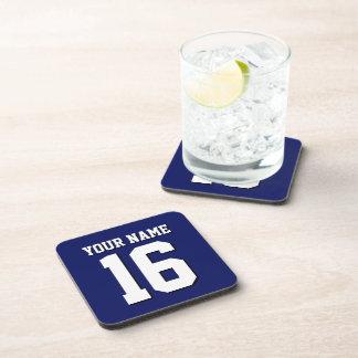 Navy Blue Sports Jersey Team Jersey Beverage Coaster