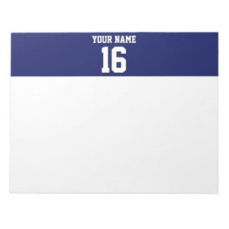 Navy Blue Sports Jersey Team Jersey Notepad