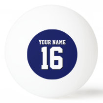 Navy Blue Sports Jersey Team Jersey Ping-Pong Ball