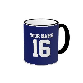Navy Blue Sports Jersey Team Jersey Ringer Coffee Mug