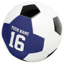 Navy Blue Sports Jersey Team Jersey Soccer Ball