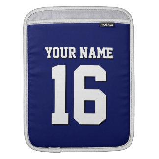 Navy Blue Sporty Team Jersey iPad Sleeve