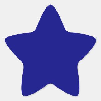 Navy Blue Star Sticker