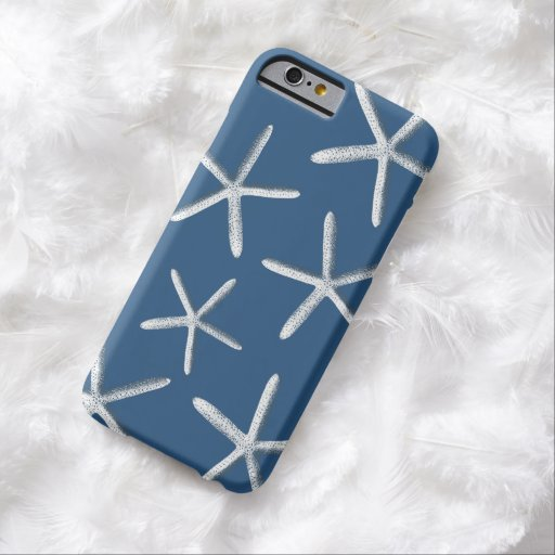 Navy Blue Starfish Nautical iPhone 6 case