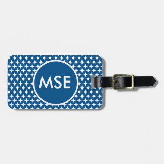 Navy Blue Stars Diamonds Bags Tag For Luggage