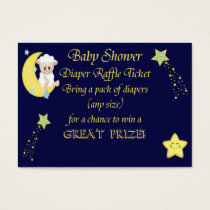 Navy Blue Stars, Moon, Sheep Diaper Raffle Tickets