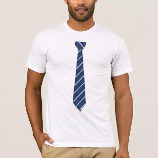Navy Blue Stripe Tie T-Shirt