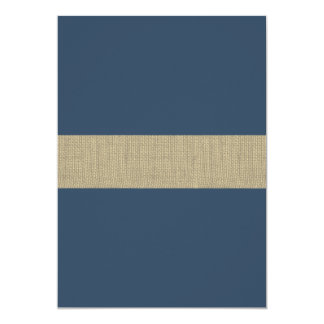 "Navy Blue Stripes Baby Shower 5"" X 7"" Invitation Card"