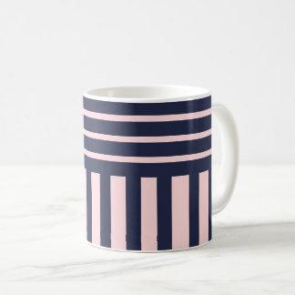 Navy blue stripes coffee mug