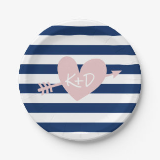 navy blue paper plates