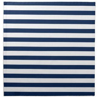 Navy Blue Stripes Pattern Napkin