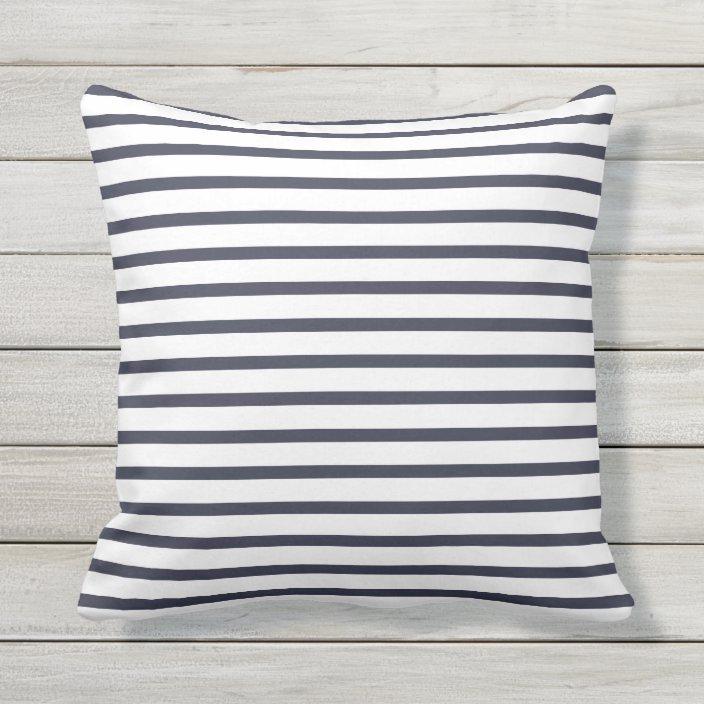 Navy Blue Summer Stripes Outdoor