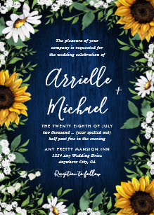 rustic sunflower wedding invitations zazzle