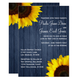 Sunflower Wedding Invitations Announcements Zazzle