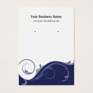 Navy Blue Swirl Custom Earring Display Card