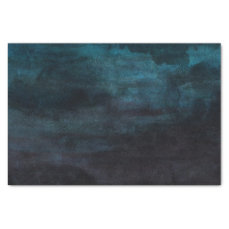 Navy Blue & Teal Modern Watercolor Wedding Tissue Paper