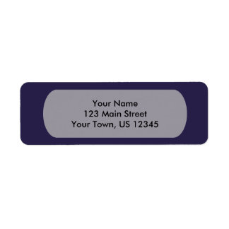 Navy Blue Template Label