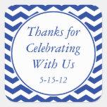 Navy Blue Thank You Sticker & Wedding Favor Label Sticker
