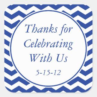 Navy Blue Thank You Sticker & Wedding Favor Label