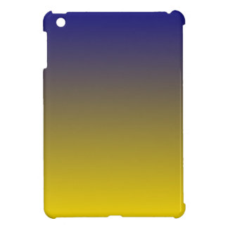 Navy Blue to Golden Yellow Horizontal Gradient Case For The iPad Mini