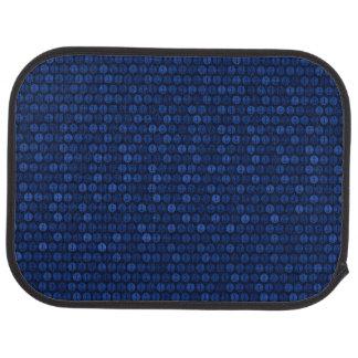 Navy Blue Tone Anchors Pattern Car Floor Mat