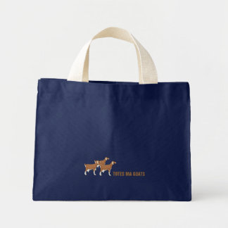 Navy Blue Totes Ma Goats Tote Bag