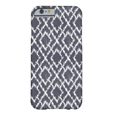 Aztec Themed Navy Blue Tribal Print Ikat Geo Diamond Pattern Barely There iPhone 6 Case