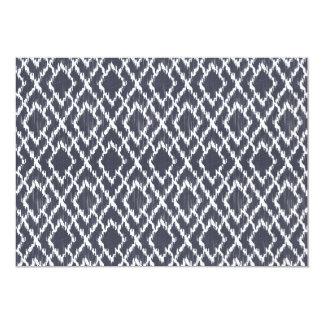 Navy Blue Tribal Print Ikat Geo Diamond Pattern Card