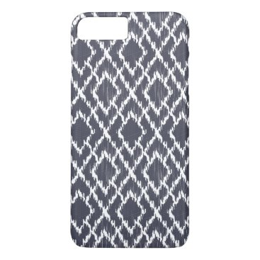 Aztec Themed Navy Blue Tribal Print Ikat Geo Diamond Pattern iPhone 8 Plus/7 Plus Case