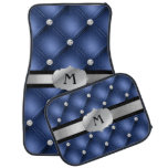 Navy Blue Tufted Personalized Monogram Car Mats