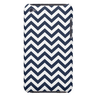 Navy Blue Unicolor Thin Chevron Pattern GPB01C iPod Touch Cover
