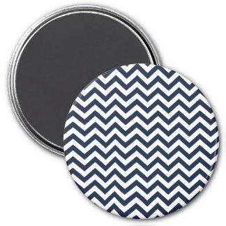 Navy Blue Unicolor Thin Chevron Pattern GPB01C Magnet