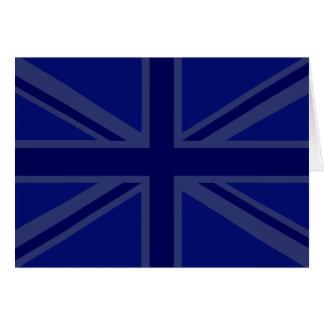 NAvy Blue Union Jack Decor Card