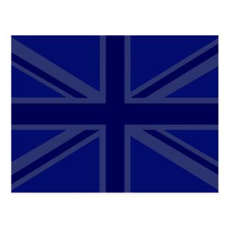 NAvy Blue Union Jack Decor Postcard