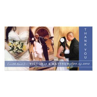 NAVY BLUE UNION | WEDDING THANK YOU CARD PHOTO CARD