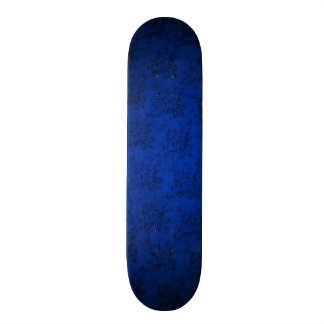 Navy blue vintage damask pattern skate board deck