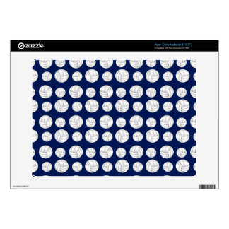 Navy blue volleyball pattern acer chromebook skins