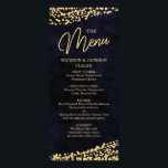 """Navy Blue Watercolor &amp; Gold Confetti Wedding Menu<br><div class=""""desc"""">Navy Blue Watercolor &amp; Gold Glam Confetti Perfect for Fall or Winter Wedding Menu cards With trendy Hand Lettered Script font! ~ Check my shop to see the entire wedding collection with this design!</div>"""