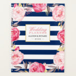 "Navy Blue Watercolor Gold Pink Floral Wedding Planner<br><div class=""desc"">Navy Blue Watercolor Gold Pink Floral Wedding Planner.</div>"