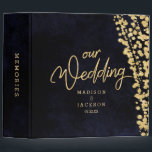 """Navy Blue Watercolor &amp; Gold Wedding Photo Album Binder<br><div class=""""desc"""">Navy Blue Watercolor &amp; Gold Glam Confetti Perfect for Fall or Winter Wedding Photo Album With trendy Hand Lettered Script font! ~ Check my shop to see the entire wedding collection with this design!</div>"""